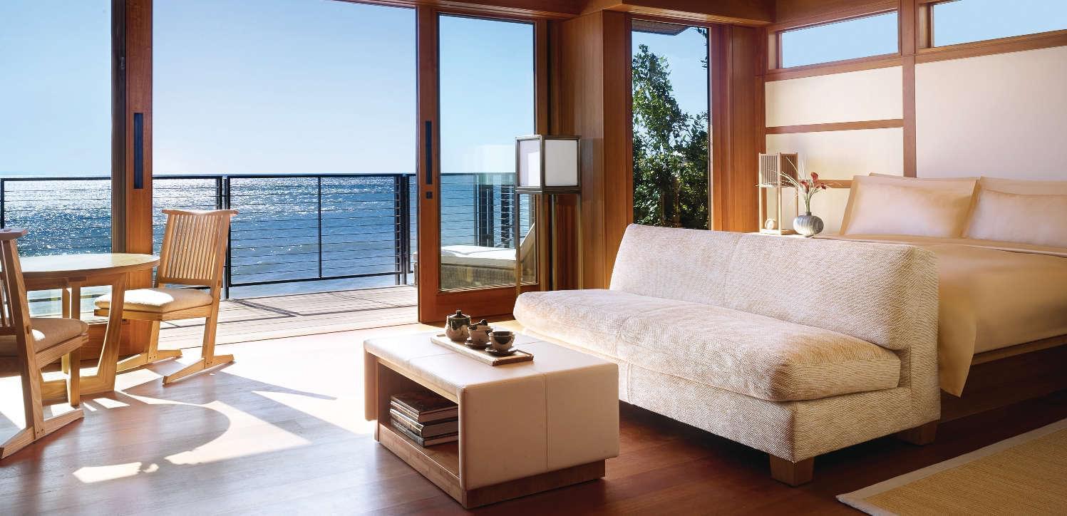 Luxury hotel in Malibu ocean view room