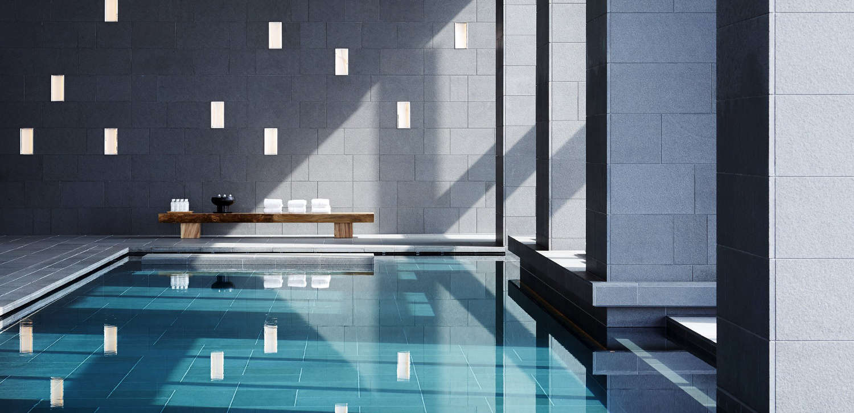 Japanese spas Aman Tokyo's pool