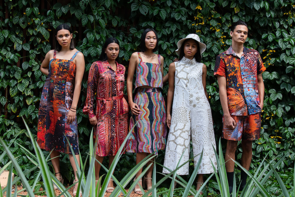 The Warlu Collection, Warlukurlangu Artists and North, Country to Couture 2020 © George F Photography