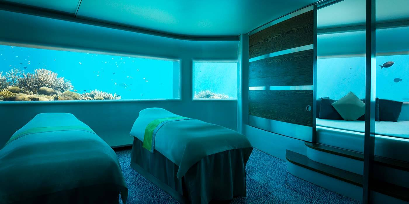 Underwater Pearl Spa at Huvafen Fushi Maldives