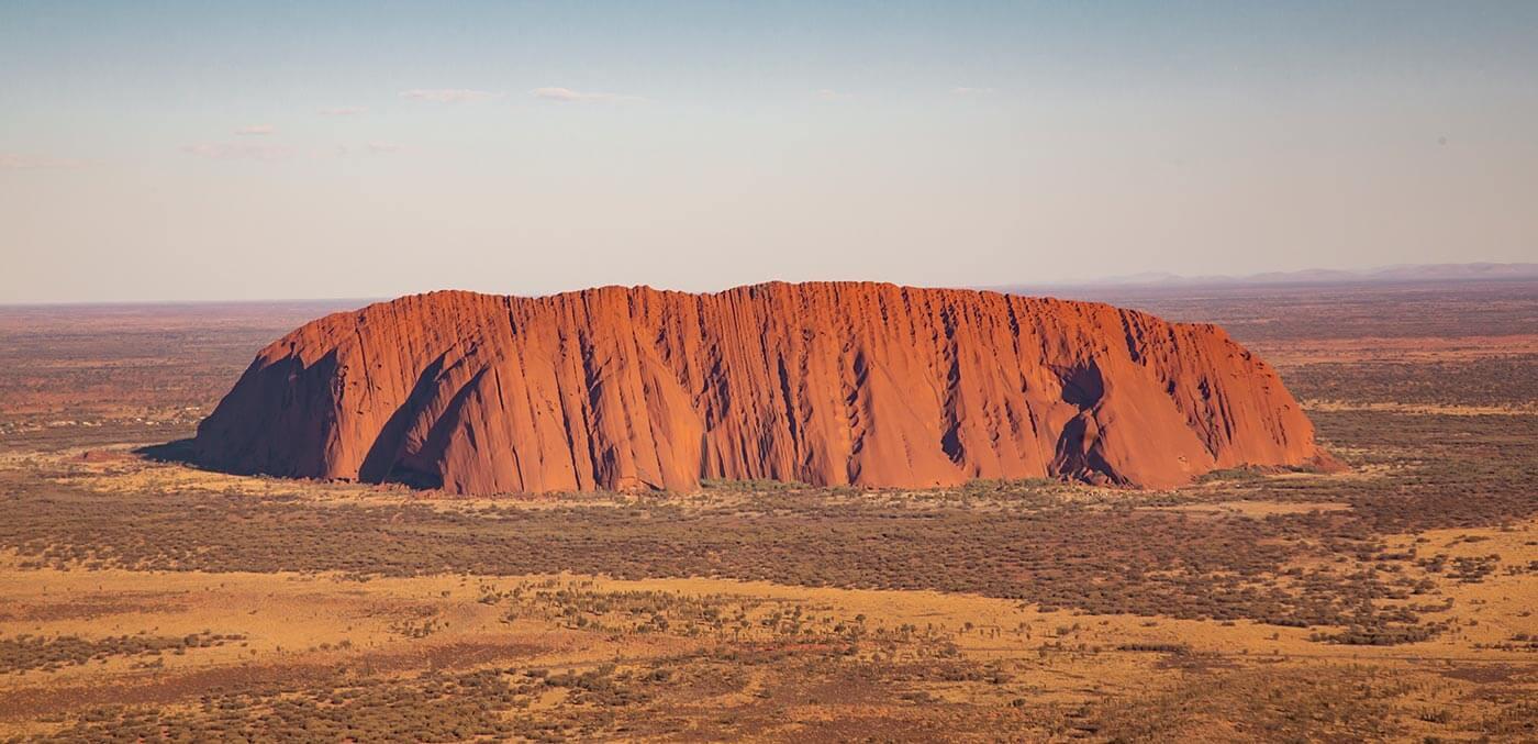 Aerial view of Uluru