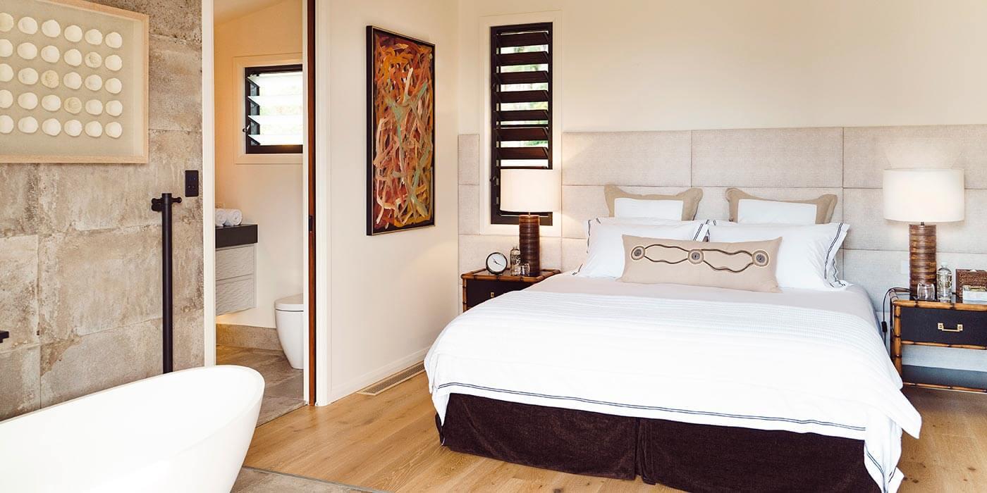 Komala Luxe Bedroom at Gaia Retreat & Spa