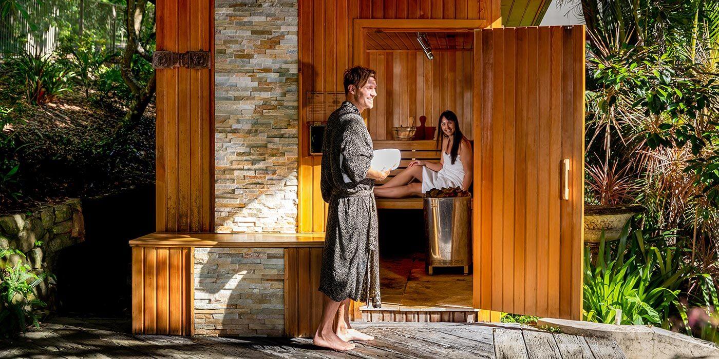 Sauna at Gaia Retreat & Spa