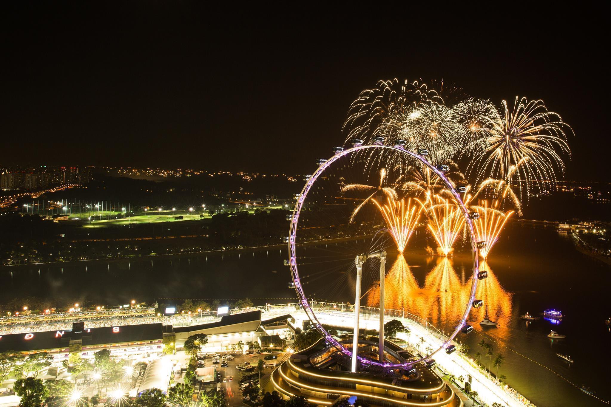 Stunning firework finish.