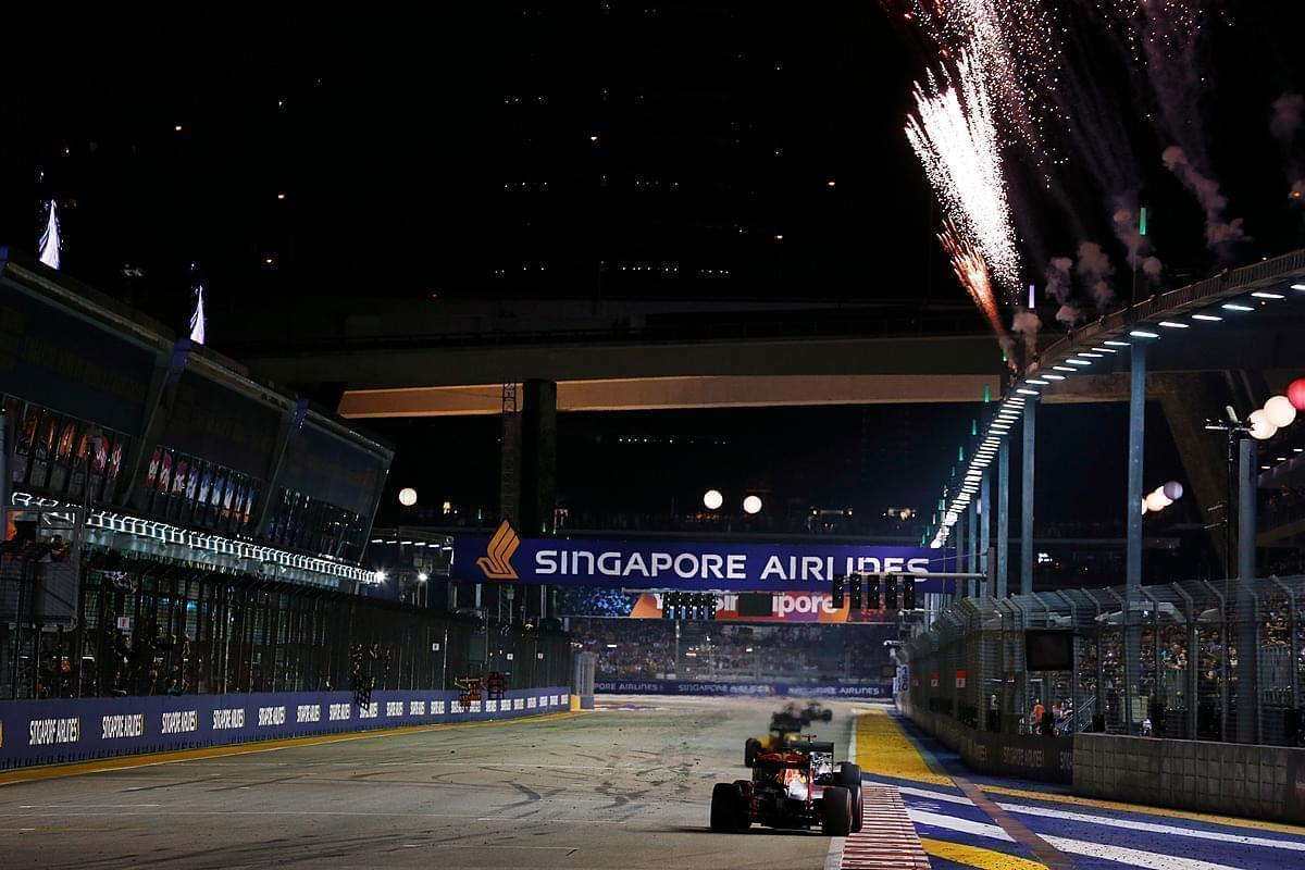 The shortest race in Singapore, the chequered flag waved at the 1hr 55min mark