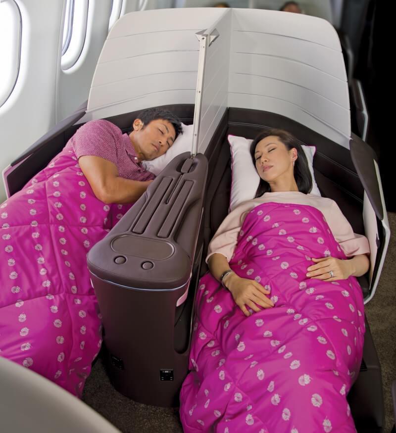 Hawaiian Airlines Flat Lay Bed