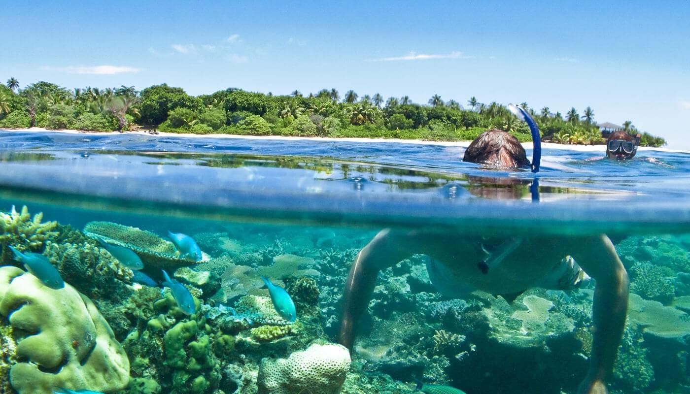 Snorkelling at Vomo Island Resort