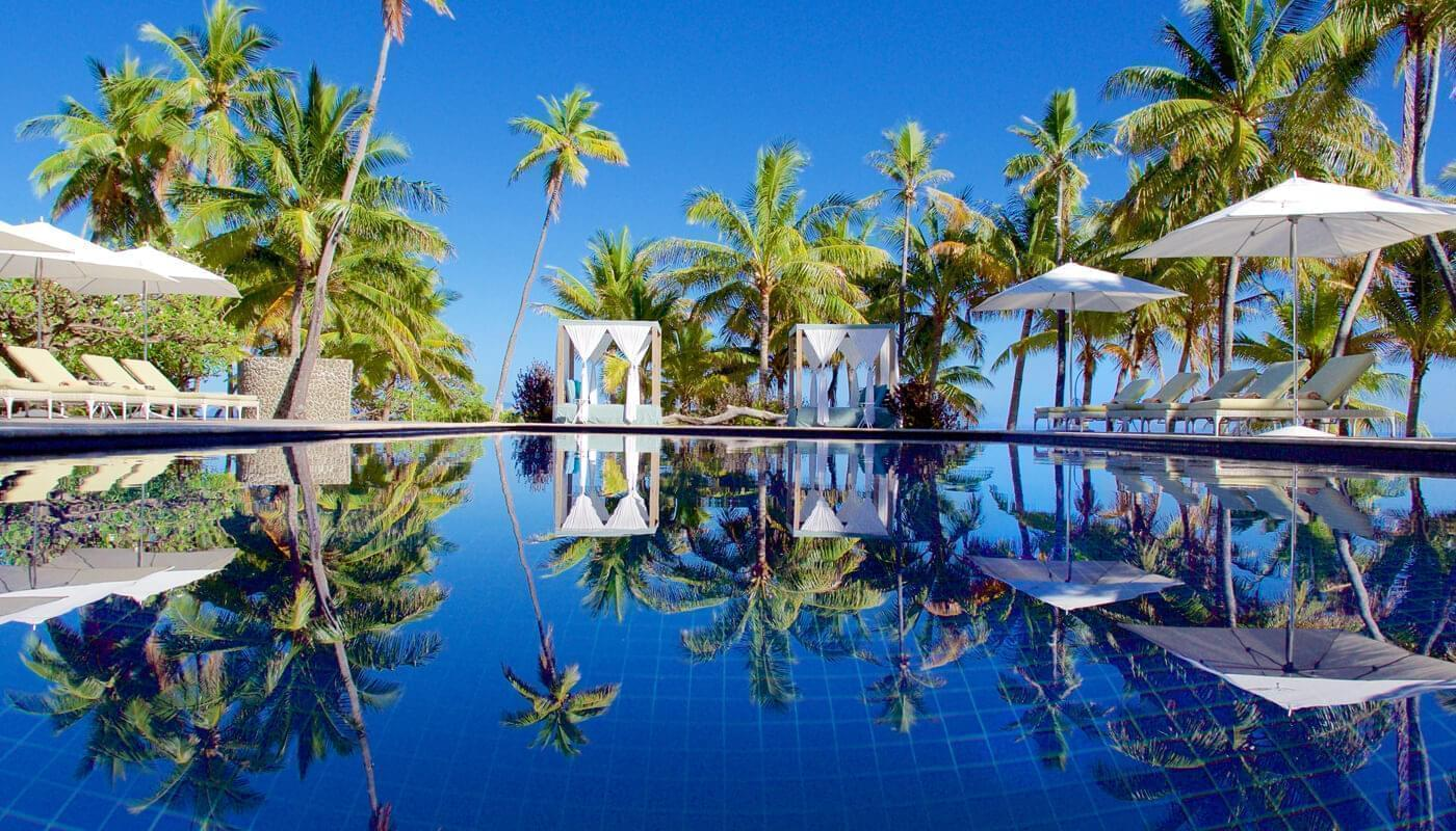 Adults only pool at Vomo Island Resort