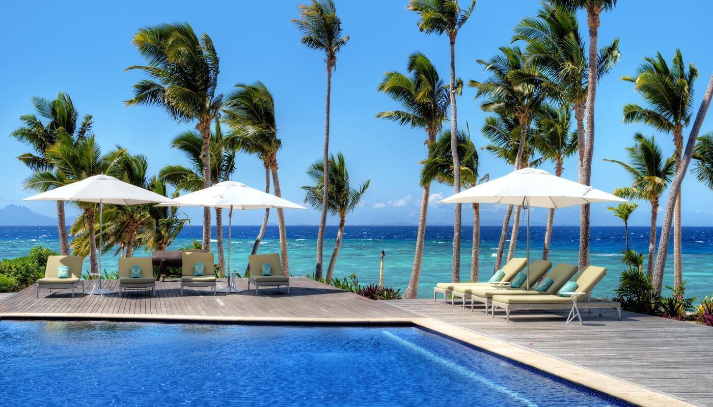 Pool at Vomo Island Resort
