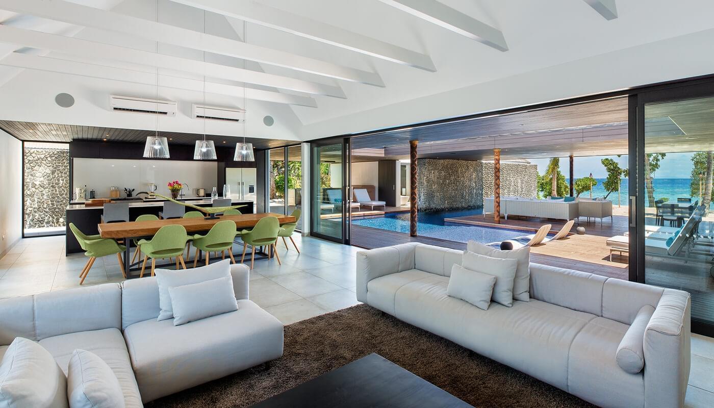 The Palms Room at Vomo Island Resort