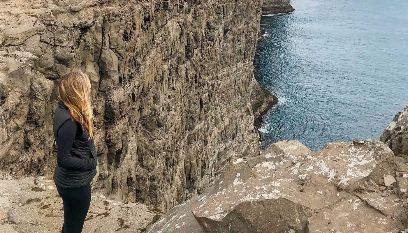 clifftop faroe islands