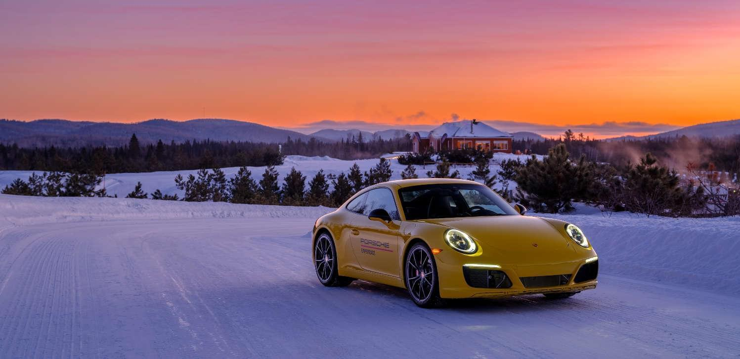 Ice driving in the Porsche 911