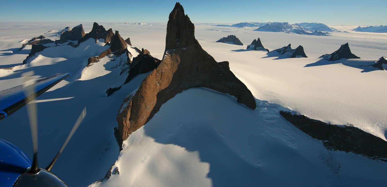 White Desert Antarctica landscape