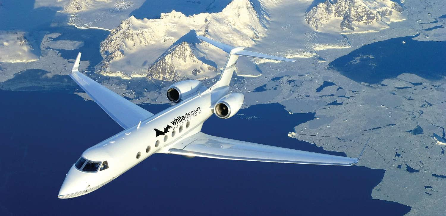 White Desert private jet