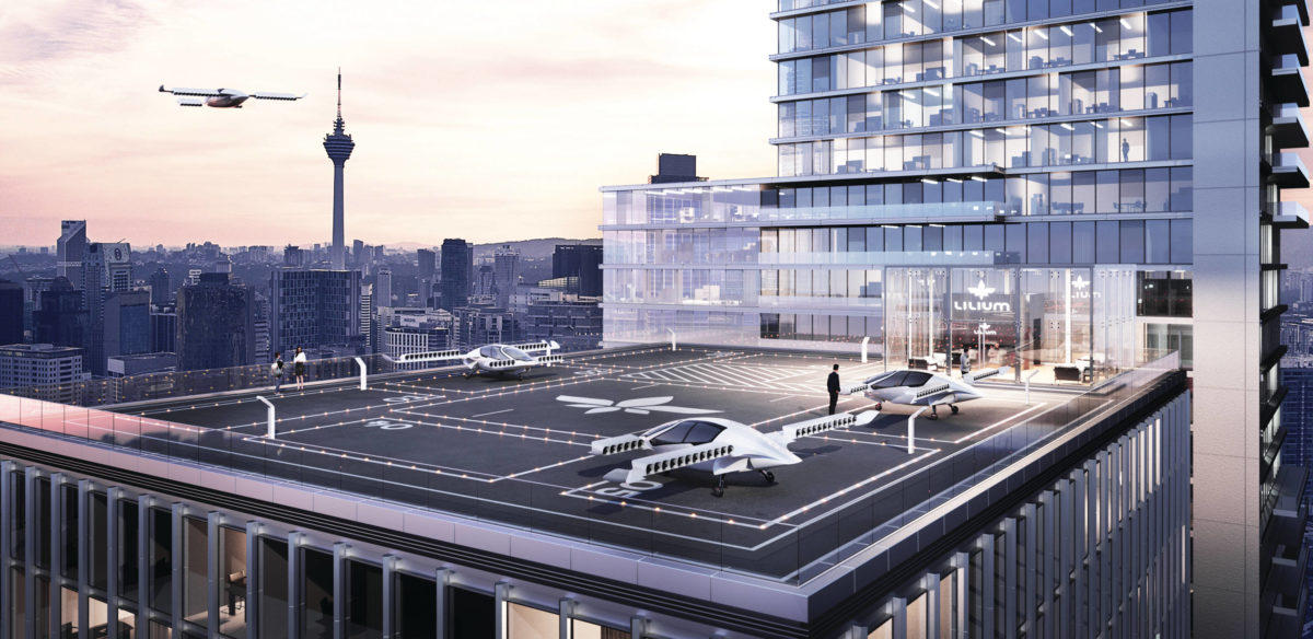 Flying cars: Lilium landing pad