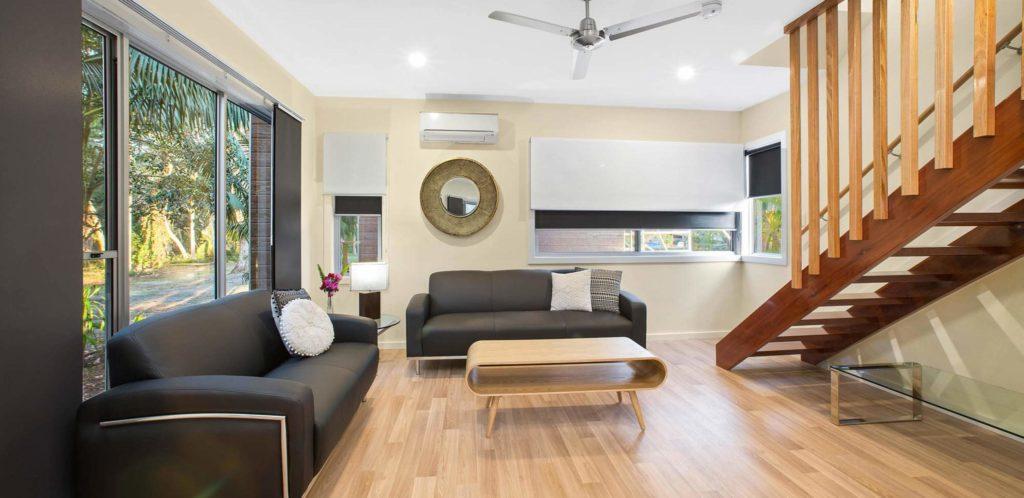 Ngurra Lodge Living area, BIG4 Sunshine Resort, South West Rocks