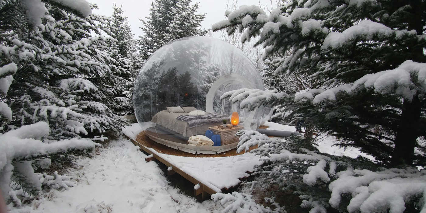 World's best bubble hotels: buubble, south coast tour Iceland