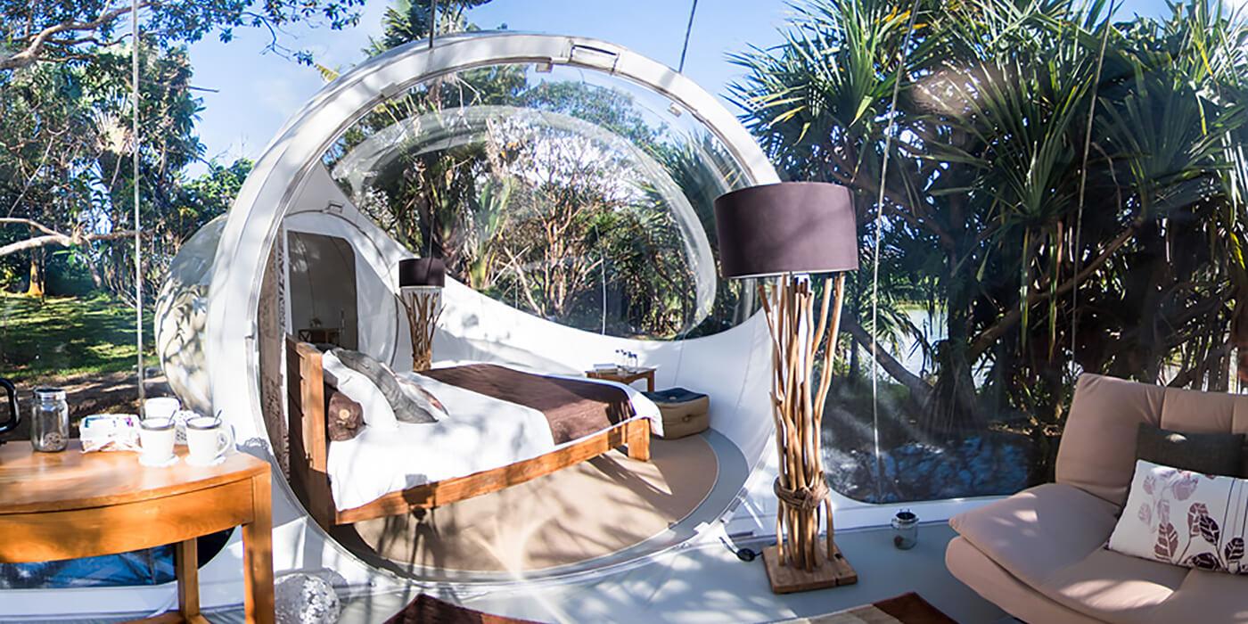 Bubble Lodge, Bois Cheri