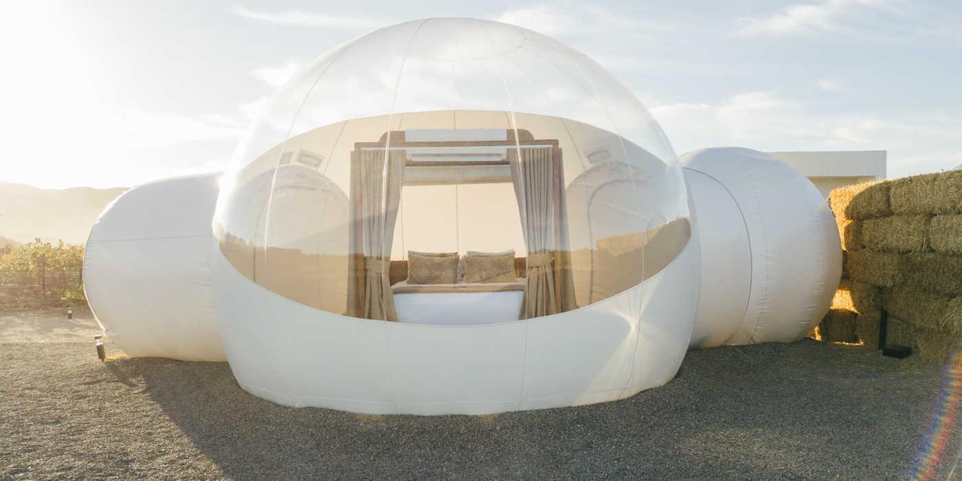 Bubble hotel campera burbuja