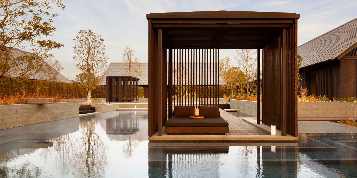 Thermal Spring with private relaxation areas at amanemu wellness retreat