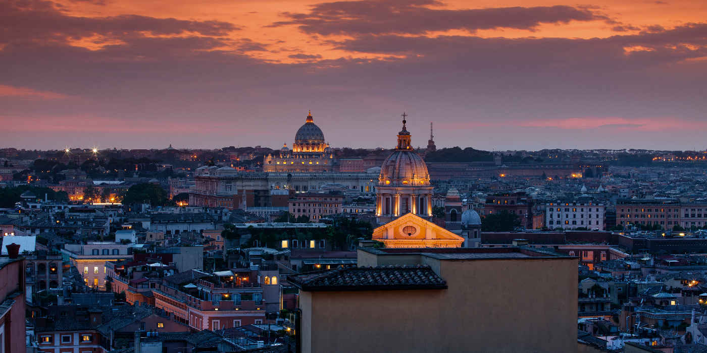 The view from the Presidential Suite of Hotel de la Ville, Rome