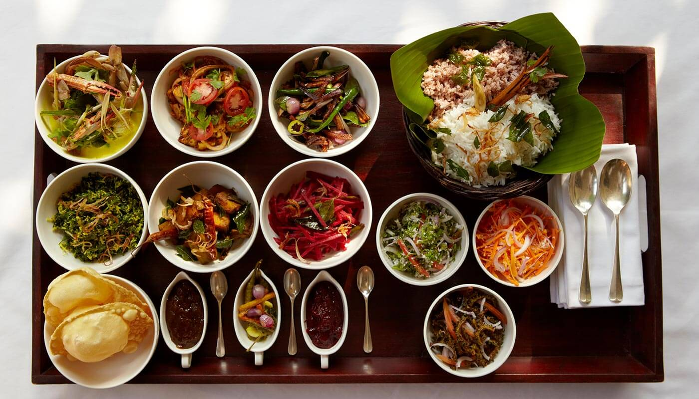 Sri Lankan cuisine at Amangalla