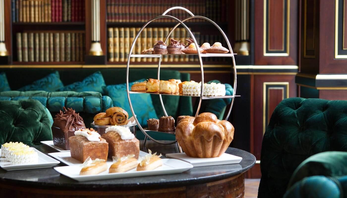 Tea time at La Réserve Paris Hotel and Spa