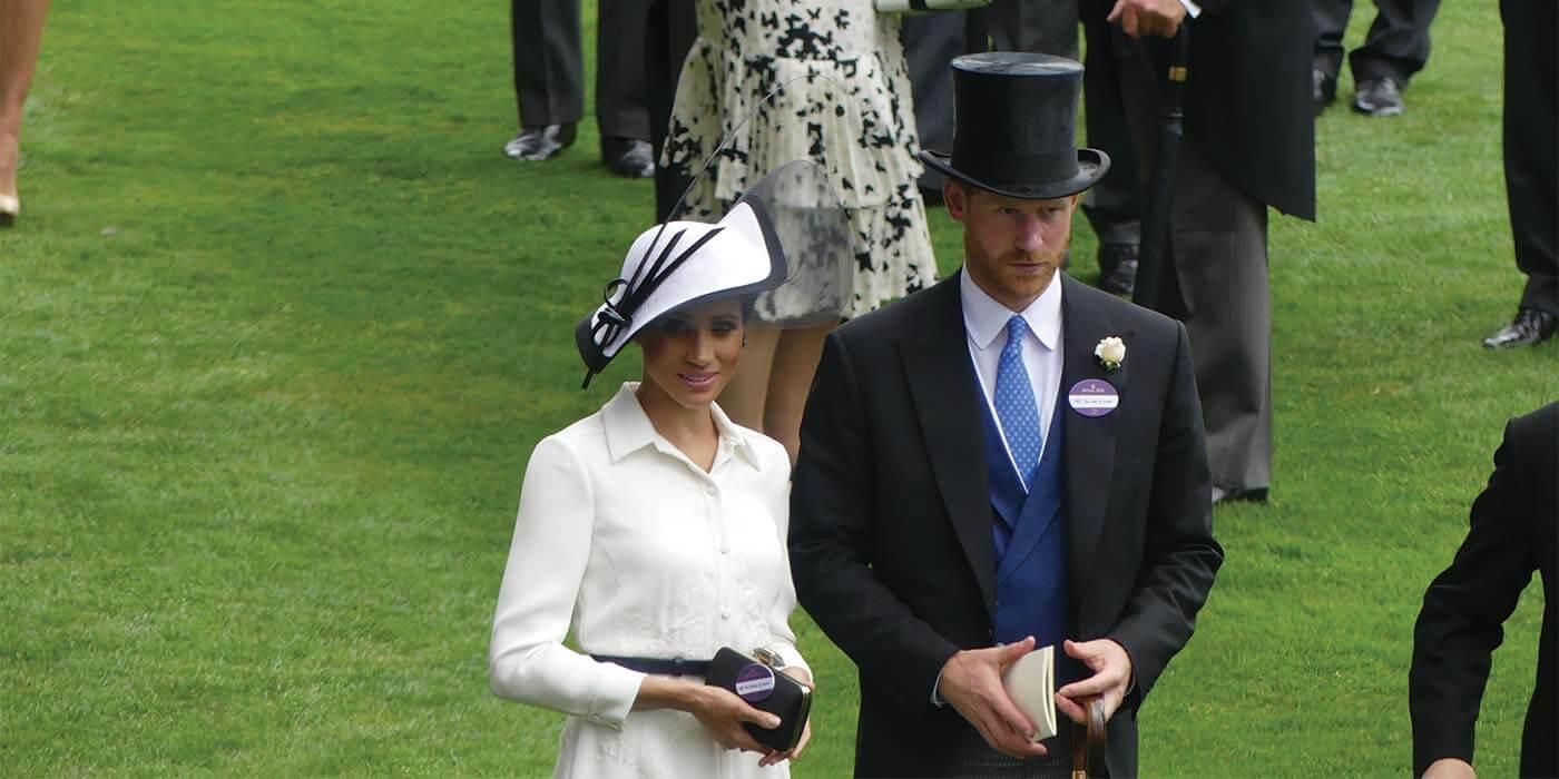 Harry and Megan at the Royal Ascot