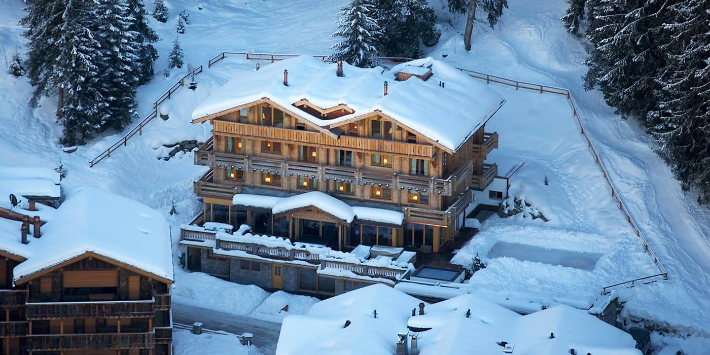 Aerial view of The Lodge, Verbier