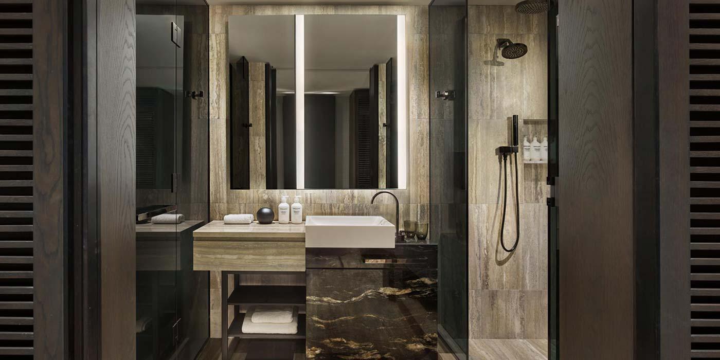 Bathroom at Equinox Hotel