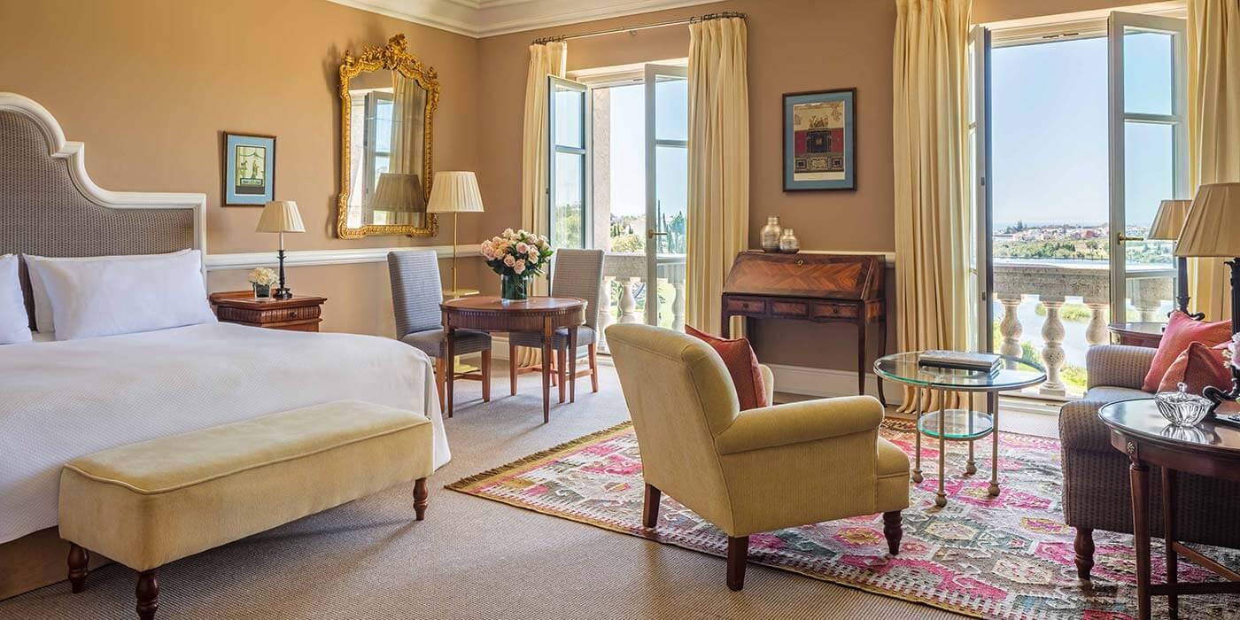 Junior Suite Bedroom at Anantara Villa Padierna Palace Benahavis Marbella Resort