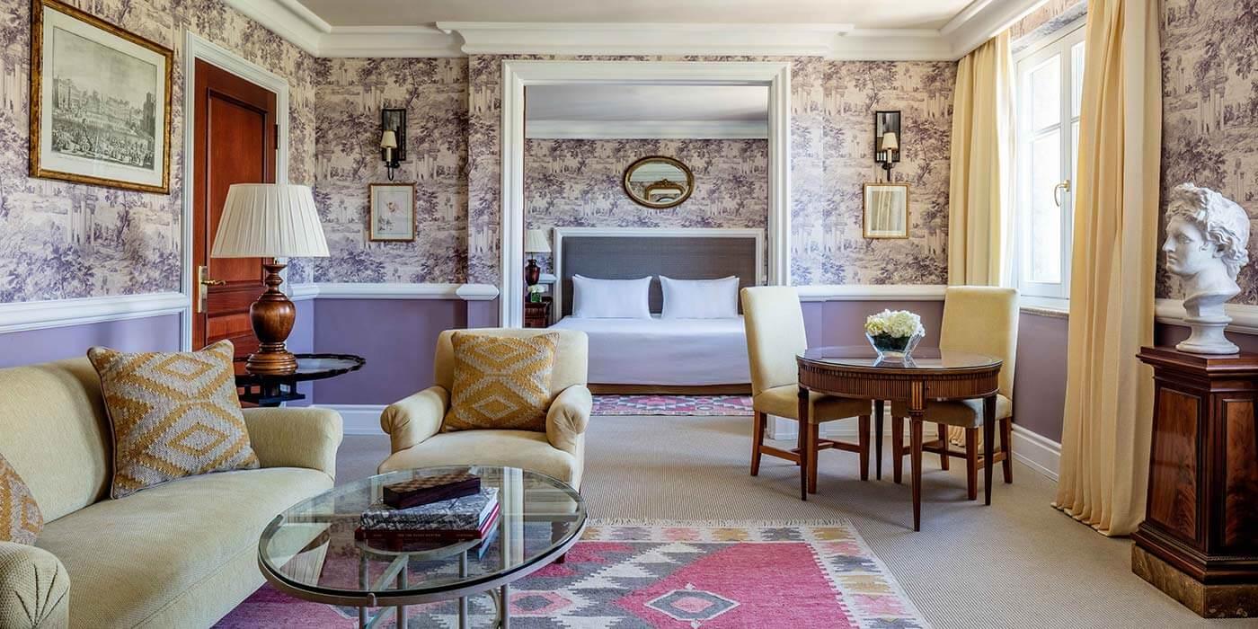 Palace Suite Living Room at Anantara Villa Padierna Palace Benahavis Marbella Resort