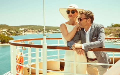 Couple on board a Seabourn cruise