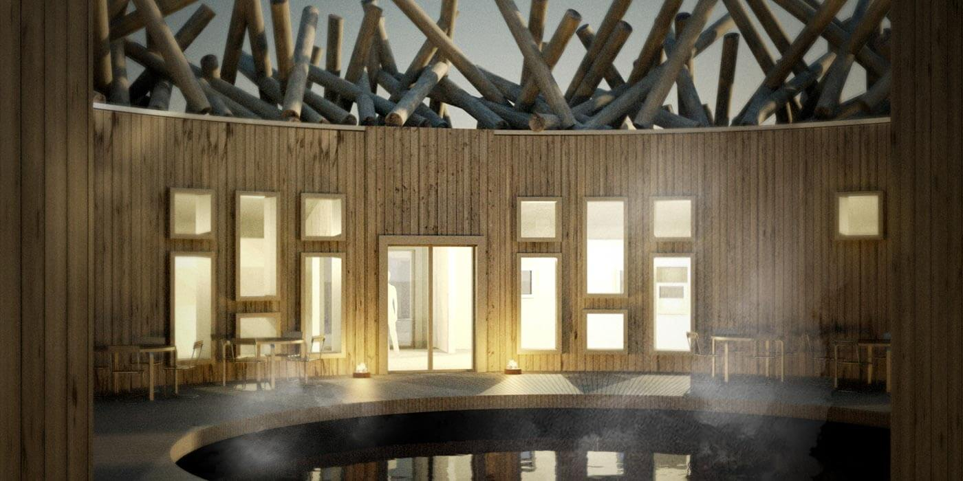 Sauna at Arctic Bath Hotel & Spa