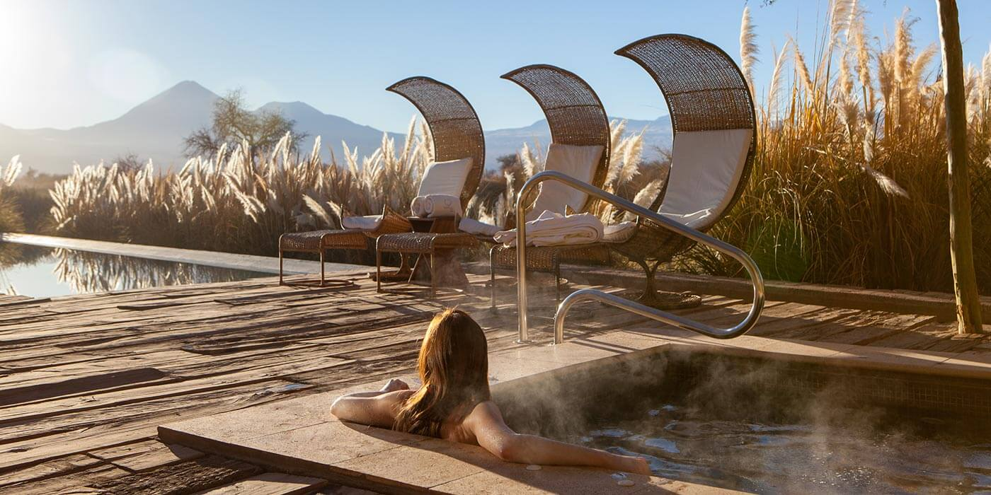 Beautiful scenery in the spa at Tierra Atacama