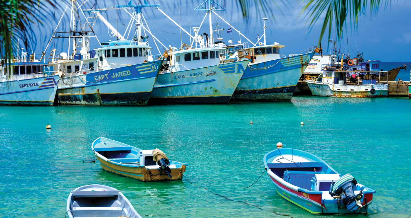 Fishing boats at Big Corn Island