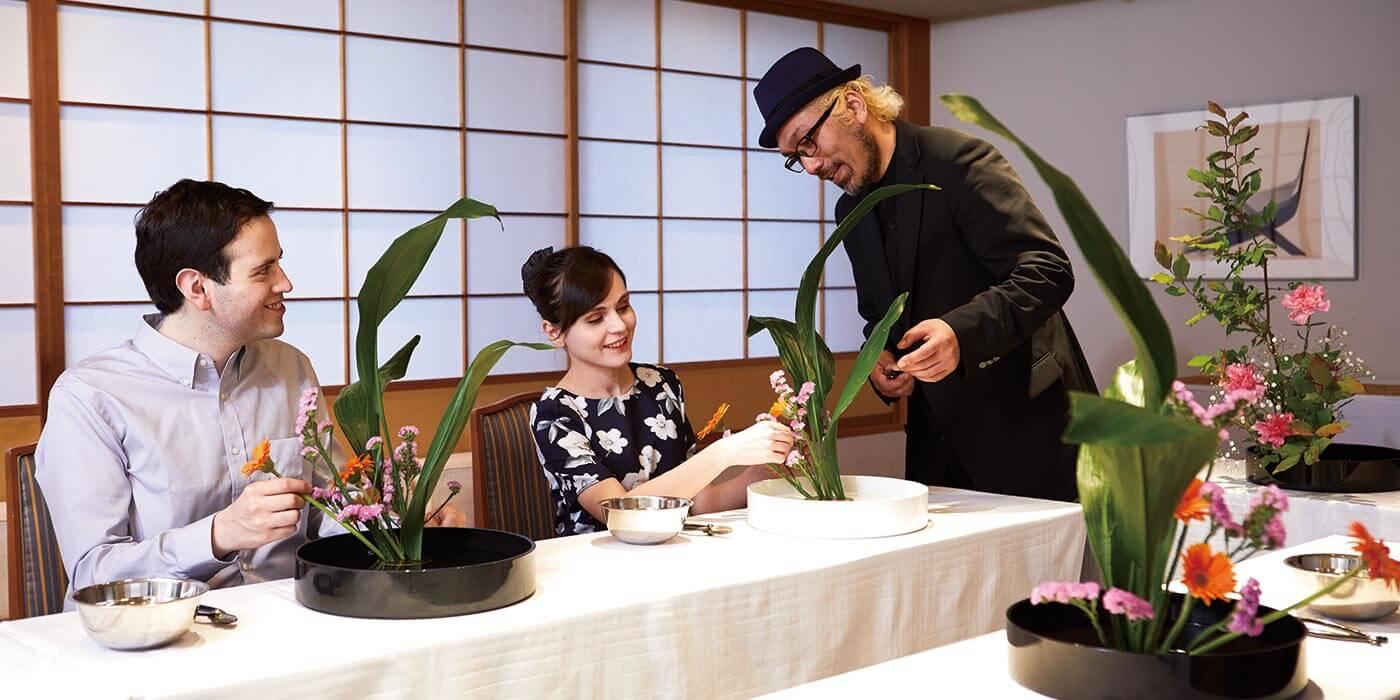 Flower arrangement workshop at Keio Plaza Hotel Tokyo