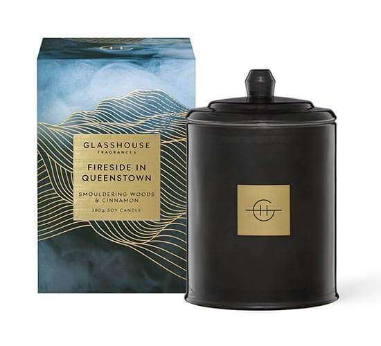 Glasshouse Fragrances Fireside in Queenstown Candle
