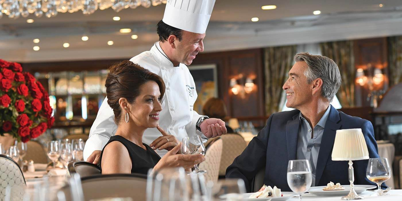 Grand dining room on board Oceania Cruises