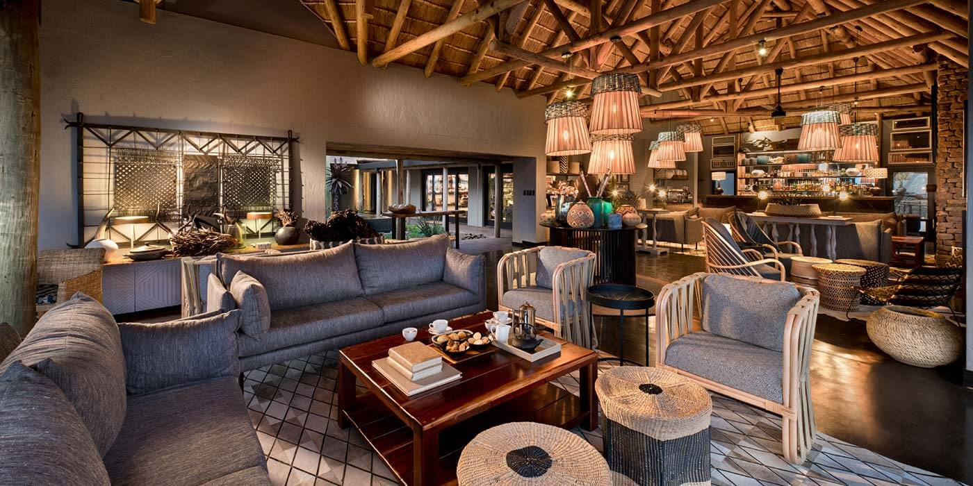 Guest Sitting Area and Bar at andBeyond Phinda Mountain Lodge