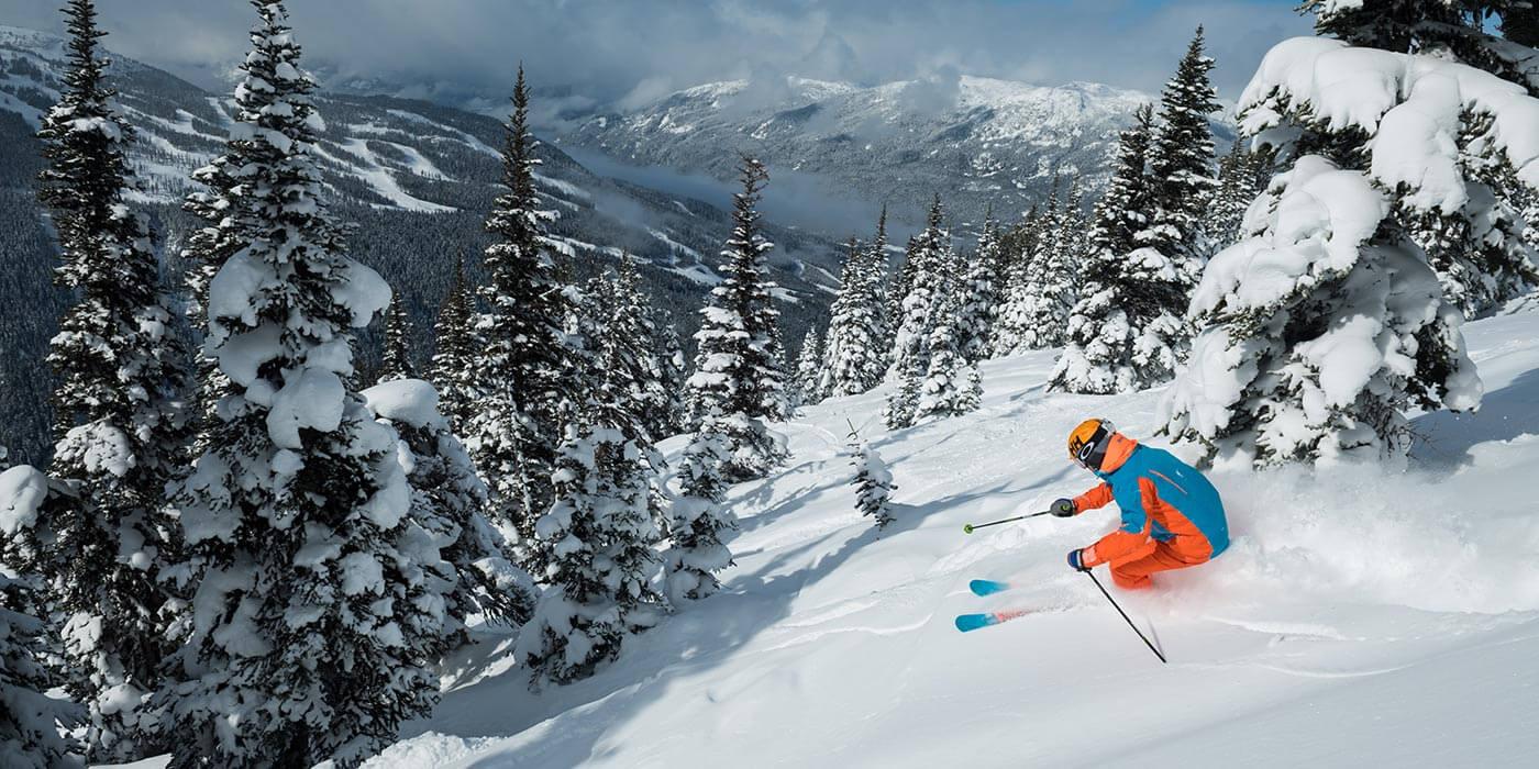 Powder skiing in Whistler