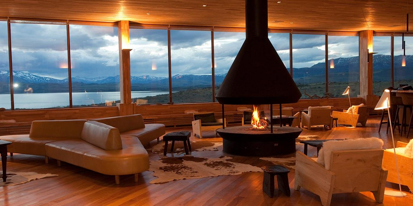 Lounge area at Tierra Patagonia