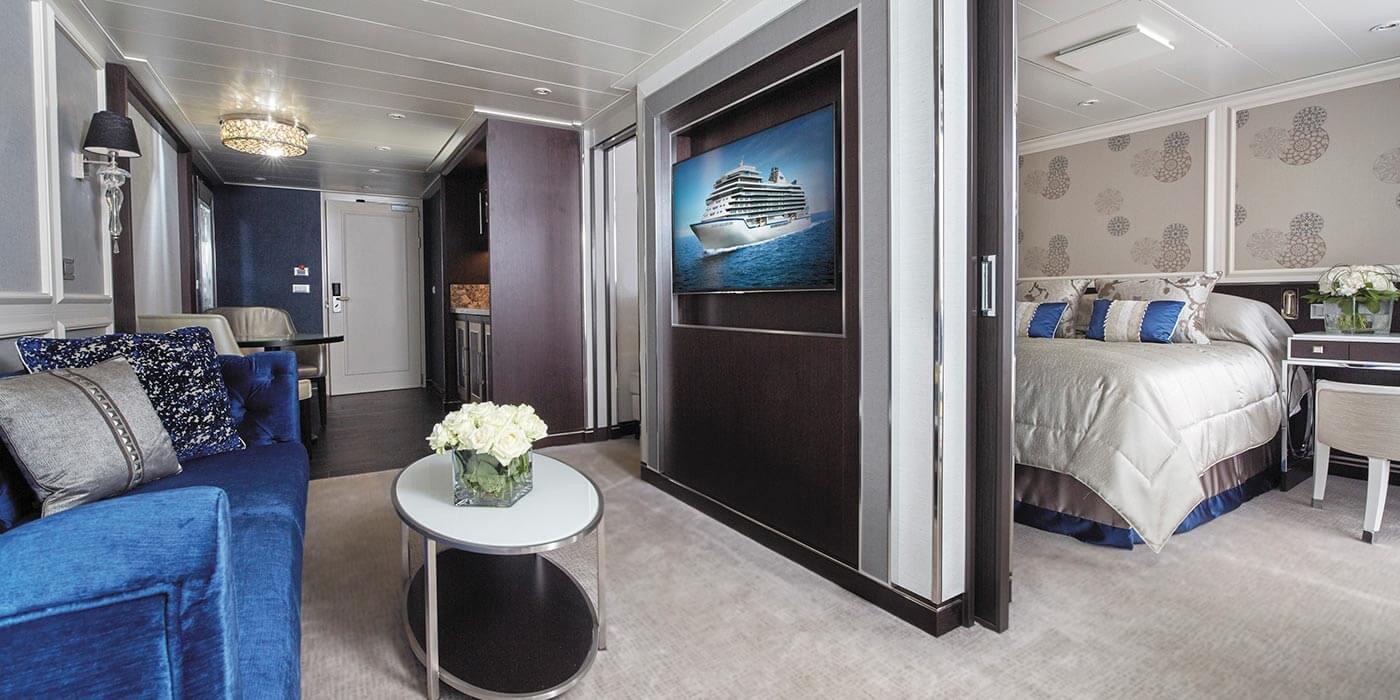 Penthouse suite onboard a Regent Seven Seas Cruise