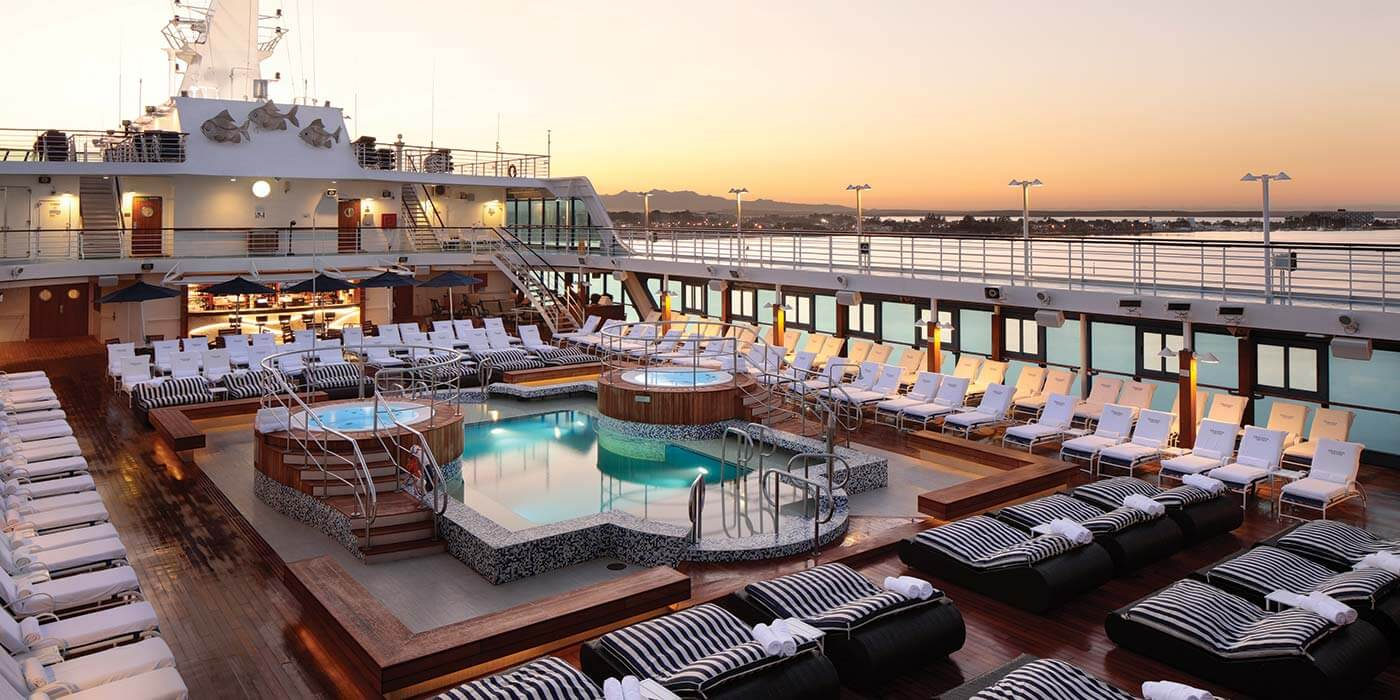 Pool deck on board Oceania Cruises