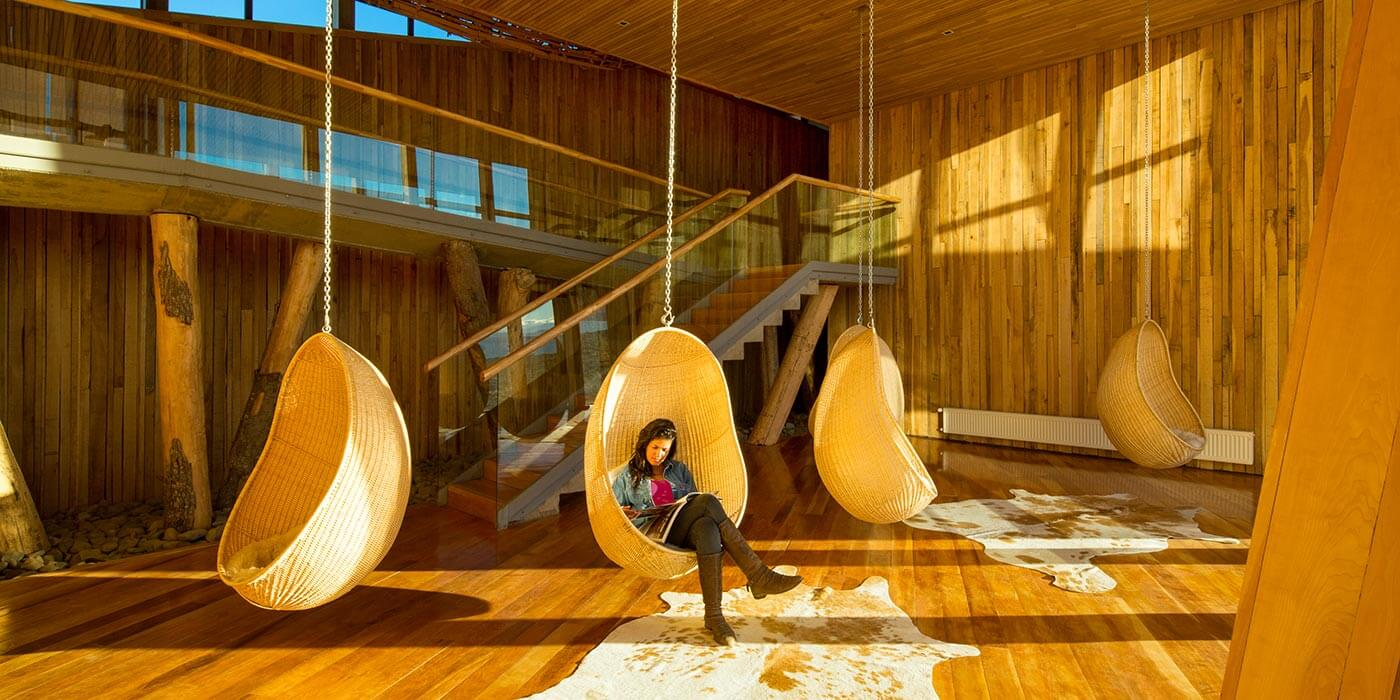 Reading area at Tierra Patagonia