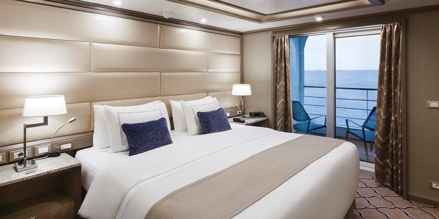 Room on board a Silversea ship