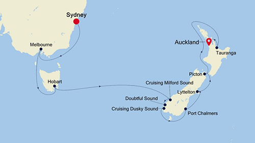 Sydney to Auckland