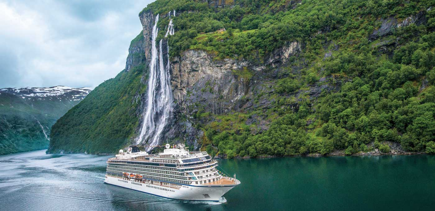 Viking Ocean Cruises takes travellers to the Seven Sisters Waterfall, Norway