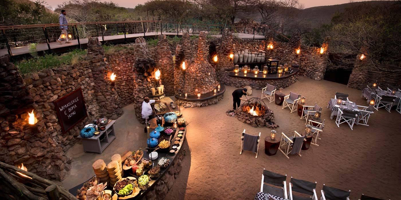 andBeyond Phinda Mountain Lodge Boma dinner