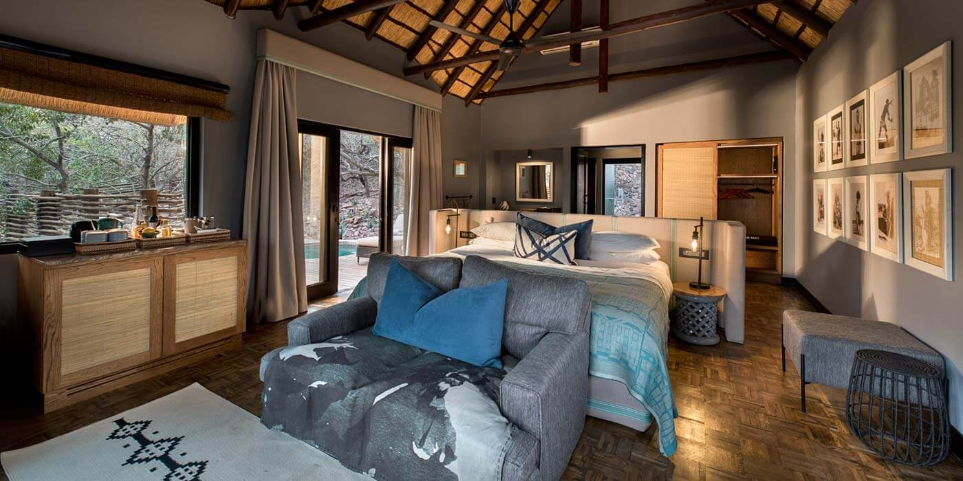 andBeyond Phinda Mountain Lodge Cottage Bedroom